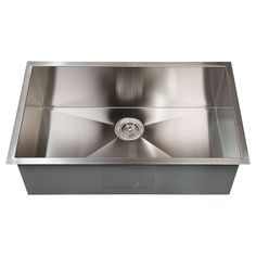 "Whittington Executive Zero Radius Stainless Steel Large Single Well Undermount Sink - 30"" $440, 32"" $530 10""deep need to pay another $50 for drain and sink grid 16 gauge 304 stainless"