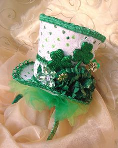Gorgeous Lucky Irish Top Hat Headband Party Hat in your Custom Colors or ANY Holiday