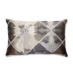 Love In Graphite Grey And Brown Rectangular Throw Pillow Pillow Perfect Accent Pillows Thr