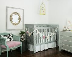 Safe paints for cribs. Gotta have that gray crib! DIY Tuesday - painting those cribs Quiet Home Paints Nursery Crib, Girl Nursery, Girl Room, Girls Bedroom, Baby Room, Nursery Decor, Nursery Ideas, Nursery Layout, Nursery Bunting