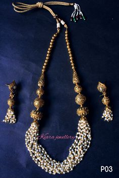 the best combination imitation gold and pearl for the #ethniclook #traditional #weddings #indian #kiara #jewellery   https://www.facebook.com/KIARA-1598897620334997/