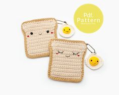 PDF. PATTERN  Bread with Fried Egg  Coin purse and door Meemanan