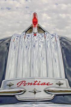1950 Pontiac Hood Ornament Photograph by Jill Reger -