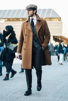 48 Amazing Winter Suits for Gentleman Style, , Mens Fashion Style, Winter Mode Outfits, Winter Fashion Outfits, Fall Fashion, Fashion Hats, London Fashion, Fashion Edgy, Street Fashion, Gentleman Mode, Gentleman Style