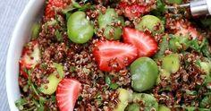 Sałatka z bobu, komosy i truskawek #sałatka #bób #truskawki #strawberries #komosa