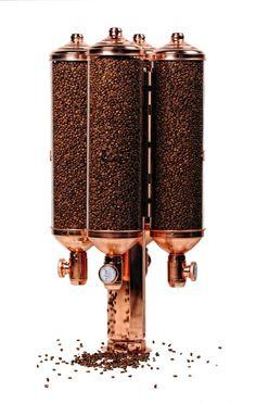 Cylindirical Rotating Coffee Bean Dispenser Silo - Kuban Makina