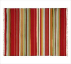 Redmond Stripe Recycled Yarn Indoor/Outdoor Rug | Pottery Barn
