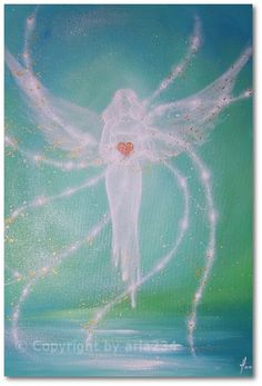 Limited angel art photo, modern angel painting, artwork, acrylics, Engelbild, moderne Engel, Bild. €10.00, via Etsy.