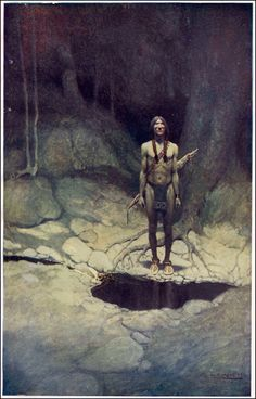 Painting of Native American, 1907 N. Wyeth - by style - Realism Jamie Wyeth, Andrew Wyeth, Edmund Dulac, Native American Art, American Artists, Native Art, Nc Wyeth, Westerns, Art Database