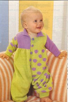 Baby KNITTING PATTERN  Knitted Romper for 6 mos and by carolrosa