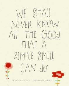 Typography Digital Illustration Quote Print   SMILE by dazeychic, $18.00