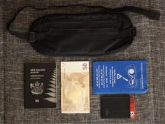 The moneybelt - essential for travellers to keep their passports, money and other valuables hidden away from pickpockets. (Article: What's in my Bag - Roadtrip Edition) What In My Bag, My Bags, Passport, Road Trip, Money, Blog, Travel, Viajes, Road Trips