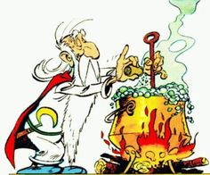 Getafix (Miraculix) - Druid, inventor of all types of potions and fountain of Gaulish wisdom