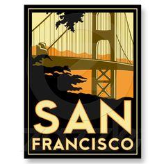 San Francisco Art Deco Poster Post Card from Zazzle.com