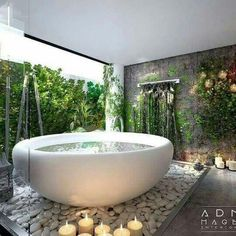 Find the most impressive, modern and luxury bathroom design ideas here. Outdoor Bathrooms, Dream Bathrooms, Dream Rooms, Beautiful Bathrooms, White Bathrooms, Luxury Bathrooms, Master Bathrooms, Dream Home Design, My Dream Home