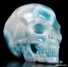 Larimar Crystal Skull by LisaDurham