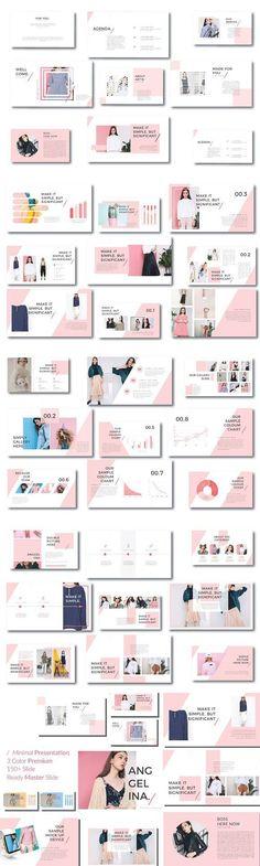 PowerPoint Templates - Keynote - Ideas of Keynote - Anggelina Keynote Template. Design Slide, Web Design, Media Design, Layout Design, Graphic Design, Powerpoint Design Templates, Layout Template, Keynote Template, Flyer Template