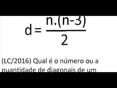 Curso de Matemática Calcule ou determine o número de diagonais de um pol...