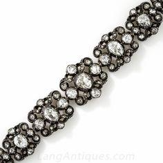 Antique Dutch Rose Cut Diamond Bracelet