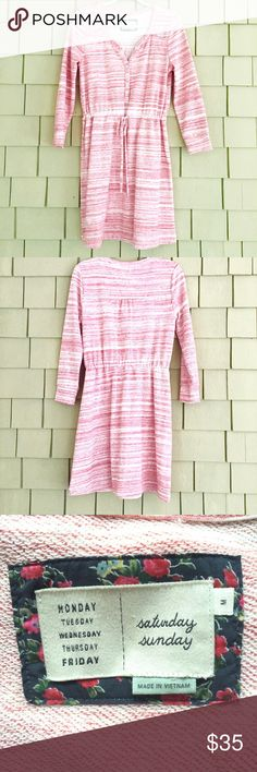 Anthropologie Saturday/Sunday Dress Great fall dress! Cotton, polyester, spandex blend. Adjustable draw string waist. Excellent condition! Anthropologie Dresses Midi