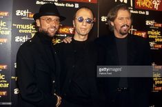 COURT Photo of BEE GEES and Barry GIBB and Maurice GIBB and Robin GIBB, Posed group portrait L-R Maurice, Robin and Barry Gibb
