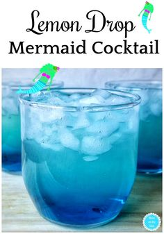Cocktail Recipes: Lemon Drop Mermaid Cocktail Recipe with Midori, Blue Curacao, . - Cocktail Recipes: Lemon Drop Mermaid Cocktail Recipe with Midori, Blue Curacao, … – - Blue Drinks, Summer Drinks, Blue Curacao Drinks, Blue Cocktails, Simple Vodka Cocktails, Lemon Vodka Drinks, Drinks With Vodka, Simple Cocktail Recipes, Bacardi Drinks