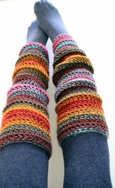 Inspiring snaps: Crochet Leg Warmers (free pattern)