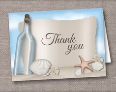 Message from a Bottle Beach Thank You Cards – Artistically Invited