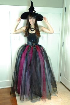 DIY Witch Costumes : Homemade Witch Costume DIY