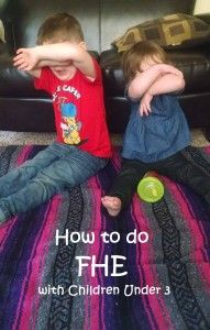 Tips on Doing Family Night (Family Home Evening= FHE) with toddlers. Good thing to implement, even if you aren't religious.