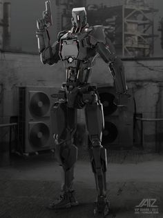 Futuristic Robot, Futuristic Armour, Robot Concept Art, Armor Concept, Military Robot, Cuadros Star Wars, Gato Anime, Humanoid Robot, Robots Characters