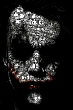 The Joker (black/white letter) - The Dark Knight