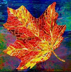 Gravity by Lee Ann Petropoulos  ~  Maplestone Gallery  ~  Contemporary Mosaic Art