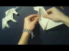 Yakomoga - Origami tutorial Unicorn by Roman Diaz (part 2 of Oragami, Origami Paper, Diy Paper, Paper Crafts, Useful Origami, Origami Tutorial, Roman, Respect, Author