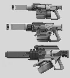ArtStation - Mecha Laser cannon Concepts, John Davidson