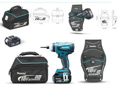 tools cases covers and belts by Grajkowski Pawel at Coroflot.com makita drill