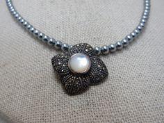 MMC Flower Ruby Pearl bery Bohemia Silver Pendants Necklaces