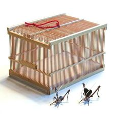 japanese cricket cage   Insect Cage Green #japan