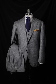 bntailor: Glen Plaid 3P by B&TAILOR in Fox...
