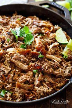 Crispy Pork Carnitas (Mexican Slow Cooked Pulled Pork) - Cafe Delites