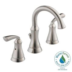Delta Mandara 8 in. Widespread 2-Handle Bathroom Faucet in Stainless-35962LF-SS-ECO - The Home Depot