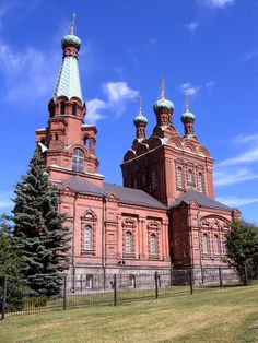 This photo from Western Finland, South is titled 'Tampere Orthodox Church'. Worship The Lord, Place Of Worship, Grave Monuments, Houses Of The Holy, Religious Architecture, Cathedral Church, Amazing Buildings, Christian Church, Kirchen