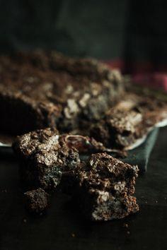 Bitter Black Chocolate Brownies (Vegan, Soy-free, Gluten-free)