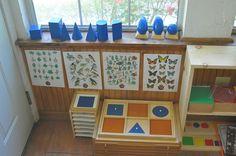 Sensorial materials, geometric solids, geometric cabinet, montessori work