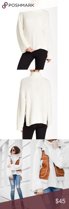 """Rachel Zoe Jordy Full Sleeve Chunky Sweater Size M This sweater has been worn once and is in like new condition. Absolutely no flaw rips or tears.  Details: - Turtleneck - Long dolman sleeves - Knit construction - Hi-lo hem - Approx. 23"""" shortest length, 28"""" longest length - Imported Fiber Content 29% acrylic, 28% nylon, 25% wool, 18% alpaca Care Dry clean Additional Info Fit: this style fits true to size.                                       NO TRADES, OFFERS NEGOTIABLE, Any questions…"""