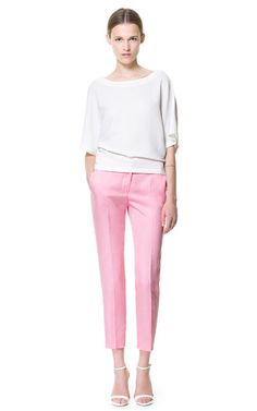 Bubblegum Pink Linen Pants. So clean, fun and sophisticated.