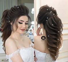 Pin by Tisha Qazi on Hair styles (With images) Bridal Hair Buns, Bridal Hairdo, Pakistani Bridal Hairstyles, Bride Hairstyles, Medium Hair Styles, Long Hair Styles, Sporty Hairstyles, Hair Inspiration, Hair Beauty