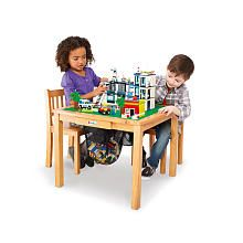 Jack's bday present from gma!   Imaginarium LEGO Activity Table and Chair Set - Natural