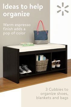 Give your own home an inviting look with the Ameriwood Residence Penelope Entryway Storage Bench. Completely sized for small areas, this unit nonetheless comes with. Hallway Shoe Storage Bench, Entryway Storage, Entryway Ideas, Living Room Furniture, Diy Furniture, Storage Bench With Cushion, Small Storage, Storage Ideas, Extra Storage