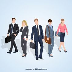 Variety of entrepreneurs illustration Free Vector